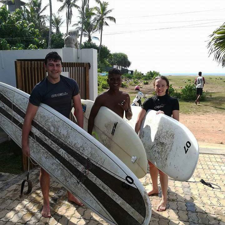 Beginners Surf Lessons with Lucky - SURF SOUTH SRI LANKA