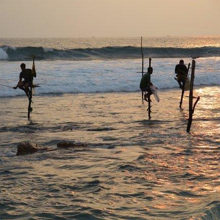 Competitive Stilt Fishing